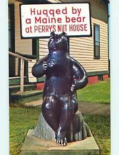 Bear Statue At Perry S Nut House Shop Belfast Me Q0410 Maine Postcard Maine Art