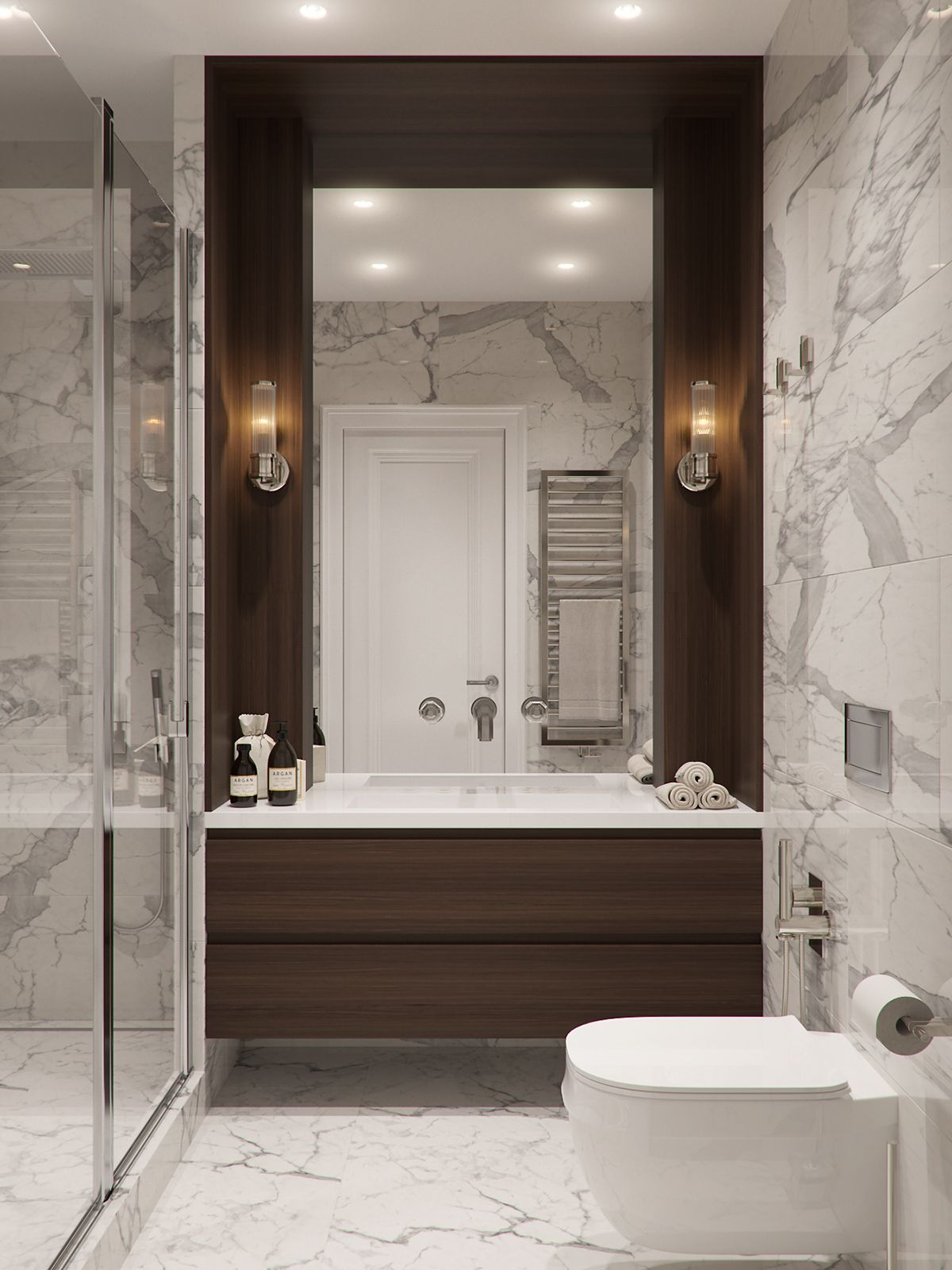 Design And Visualization Of Apartment In A Classic Style In St Petersburg Idee Salle De Bain Salle De Bains Moderne Salle De Bain Design