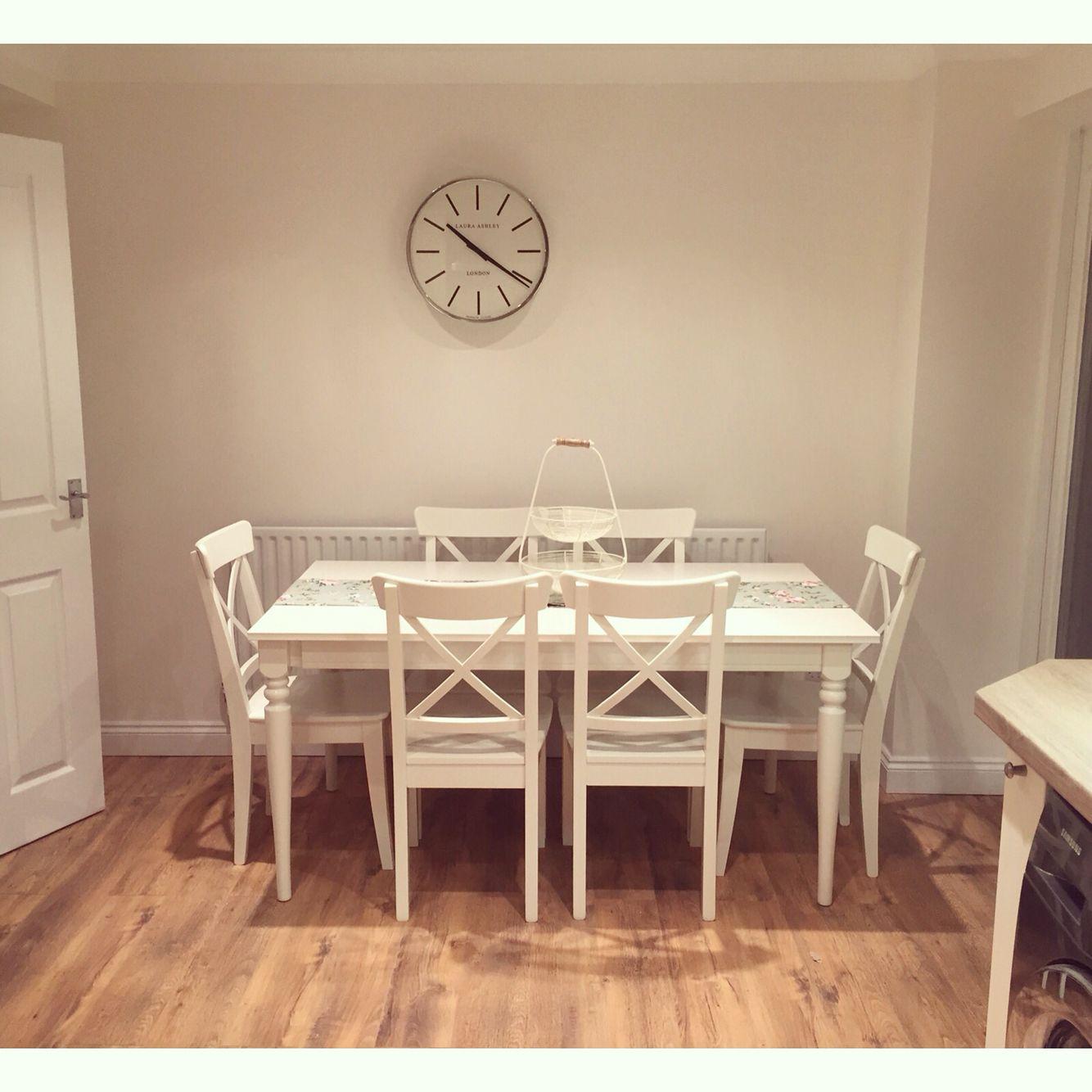 Kitchen Bench Ikea: Kitchen Table - IKEA #ingatorp #homedecor #shabbychic #laurashley