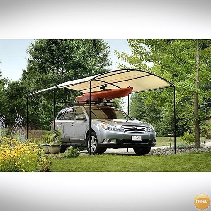 Outdoor Canopy Carport Frame Car Shelter 9 x 16 Portable Garage Boat Tent Cover in Home & Portable Carport Canopy Frame Outdoor Car Shelter Garage Boat 9x16 ...