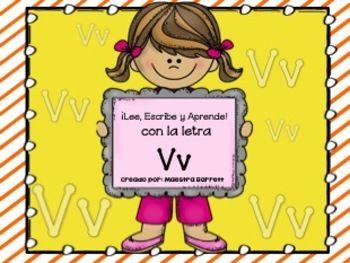 Ortografía y Palabras con Vv ¡Lee, Escribe y Aprende! -Tarjetas de Vocabulario a Color  -2 Artículos: Mi amigo Victor y Victoria y Vicente Cada uno incluye: 1)Preguntas de Comprensión 2)Completa las oraciones (Pegar o escribir)  -2 poemas con Vv -Escribe Oraciones con Vv -Busca palabras con Vv -Ordena Alfabéticamente las palabras con Vv - 2 hojas Separa las sílabas con las palabras de Vv -Sopa de letras con las palabras de Vv -MI diccionario va, ve, vi, vo, vu  -¡Haz contribuido a la…