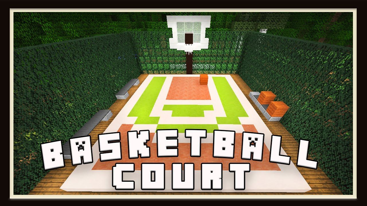 Minecraft basketball court design modern house tutorial for How to build a basketball court