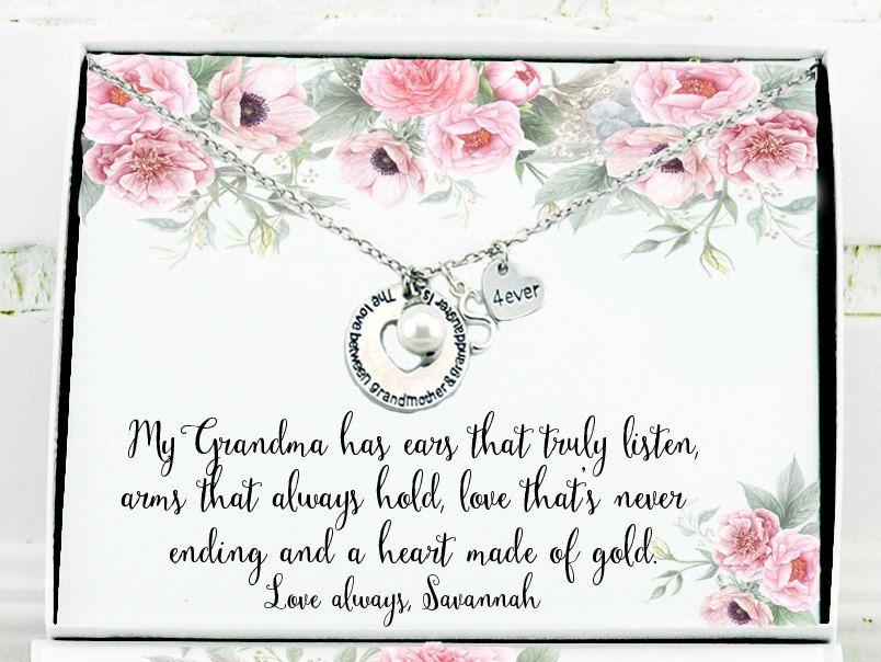 Grandmother Wedding Gift: Christmas Gift For Grandma Personalized Grandma Birthday