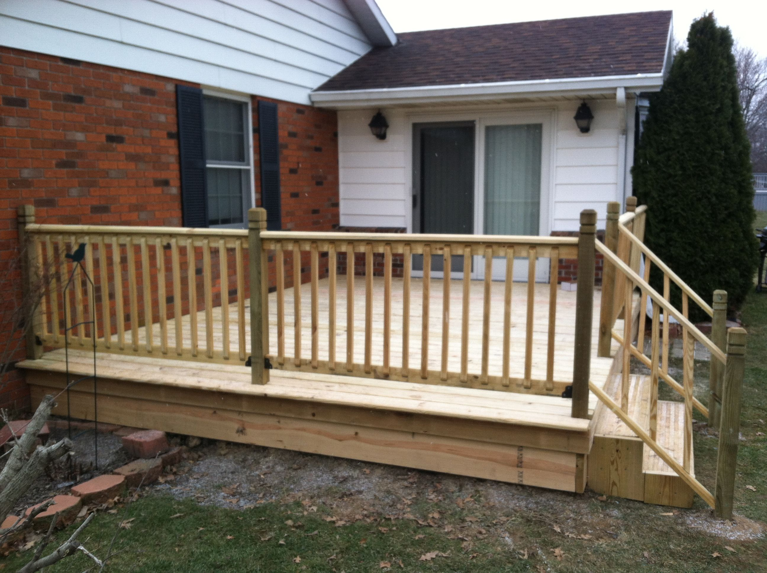 12x16 deck completed in 3 days contact for more for 12x16 deck plans