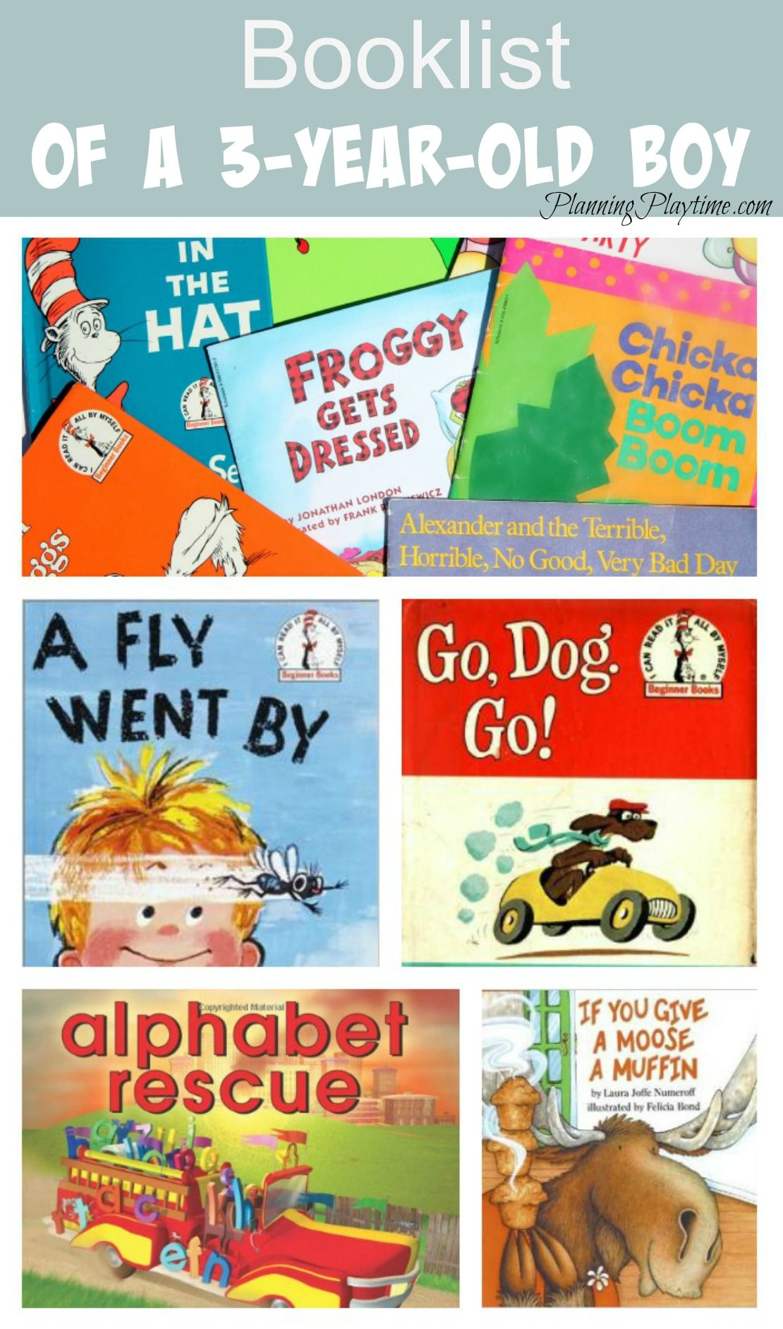 Top Book List for a 3 Year Old Boy