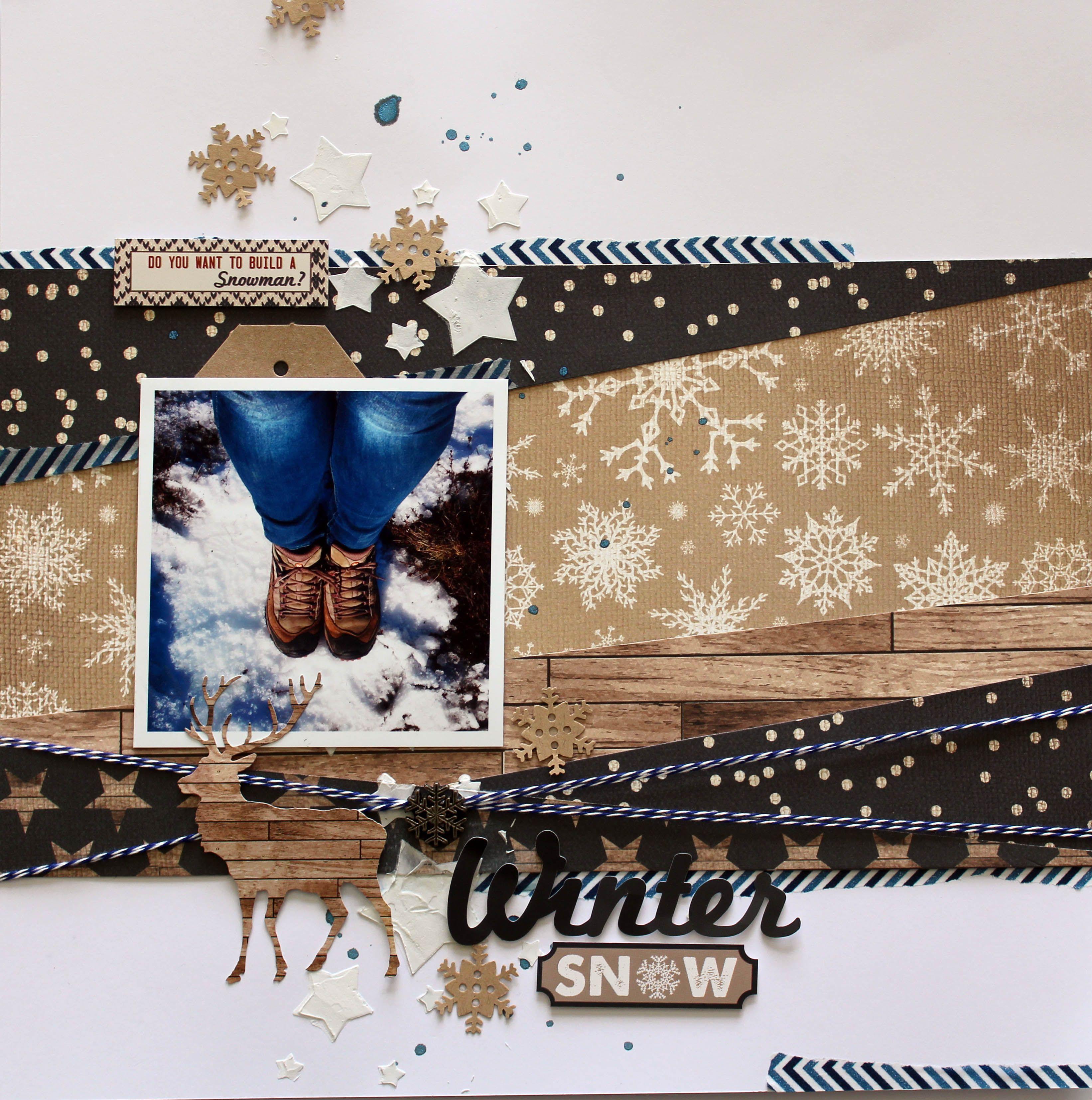 Winter Snow by Kylie Cornish   Winter scrapbooking ...