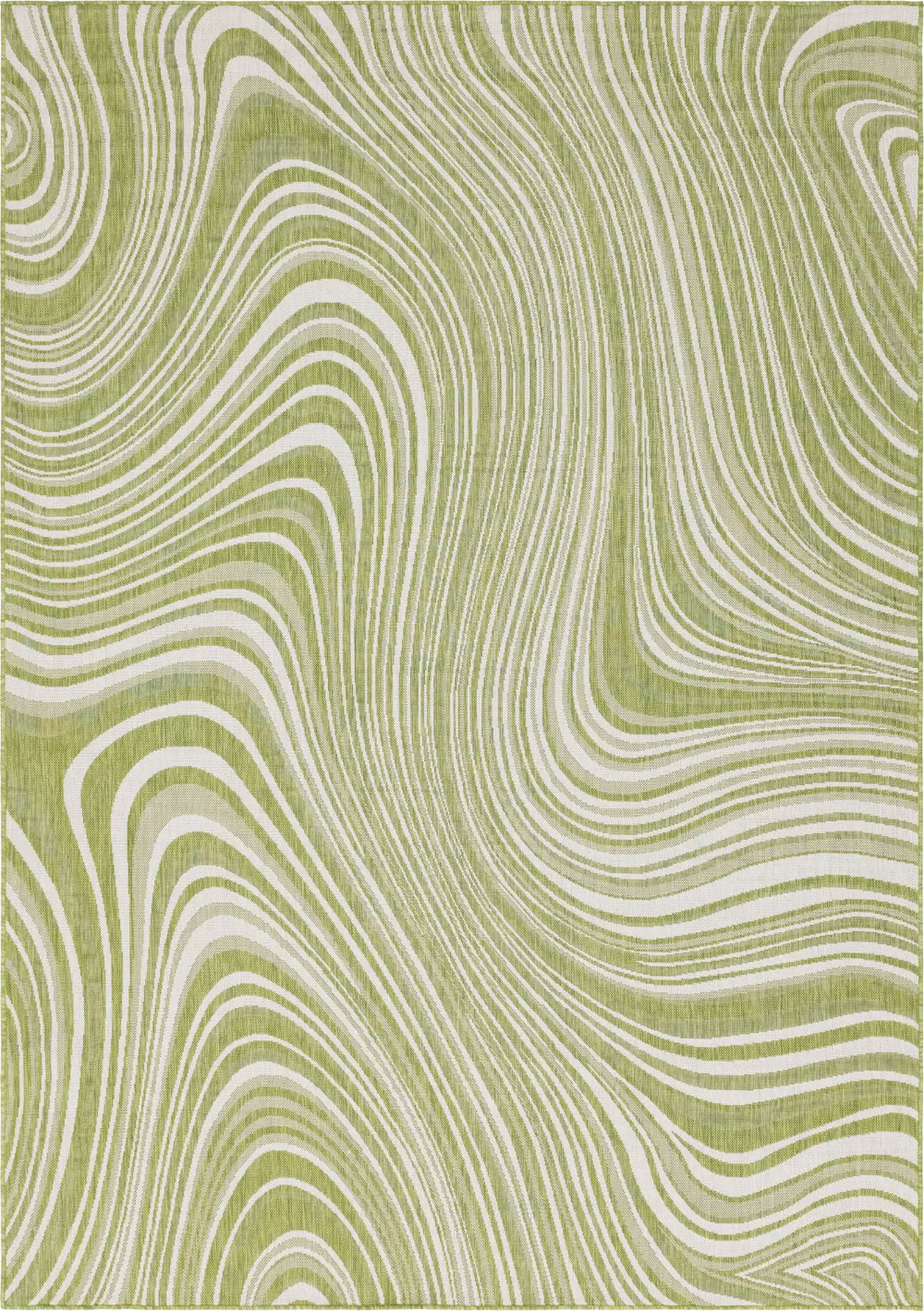 Green 8' x 11' 4 Outdoor Modern Rug