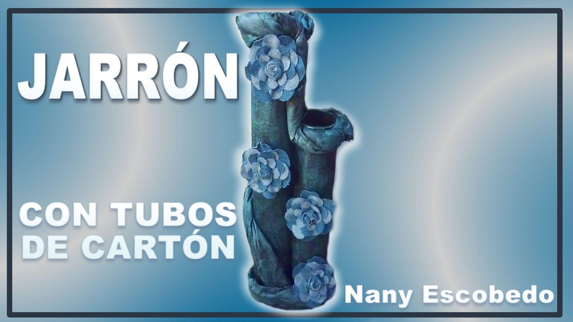 JARRÓN CON TUBOS DE CARTÓN / VASE WITH CARDBOARD TUBES