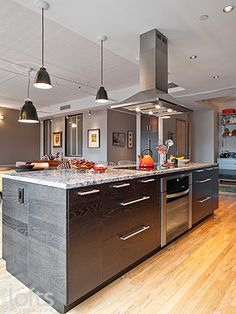 Vent Hoods Over Kitchen Island Google Search Showing Pendants Next To The Offset Hood Wonde Kitchen Island Range Kitchen Island With Stove Island With Stove