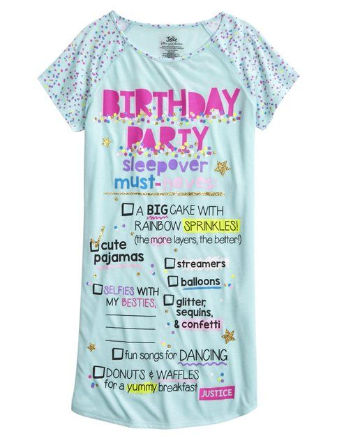 Shop Birthday Party Nightgown And Other Trendy Girls Nightgowns Sleepwear At Justice Find The Cutest To Make A Statement Today