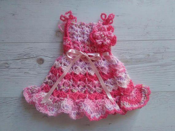 Pdf Crochet Pattern Baby Dress Digital Download Crochet Fran