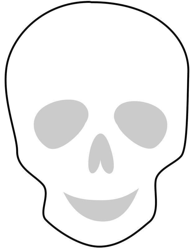 Simple Sugar Skull Outline Template Skull Template Sugar Skull Drawing Sugar Skull Stencil
