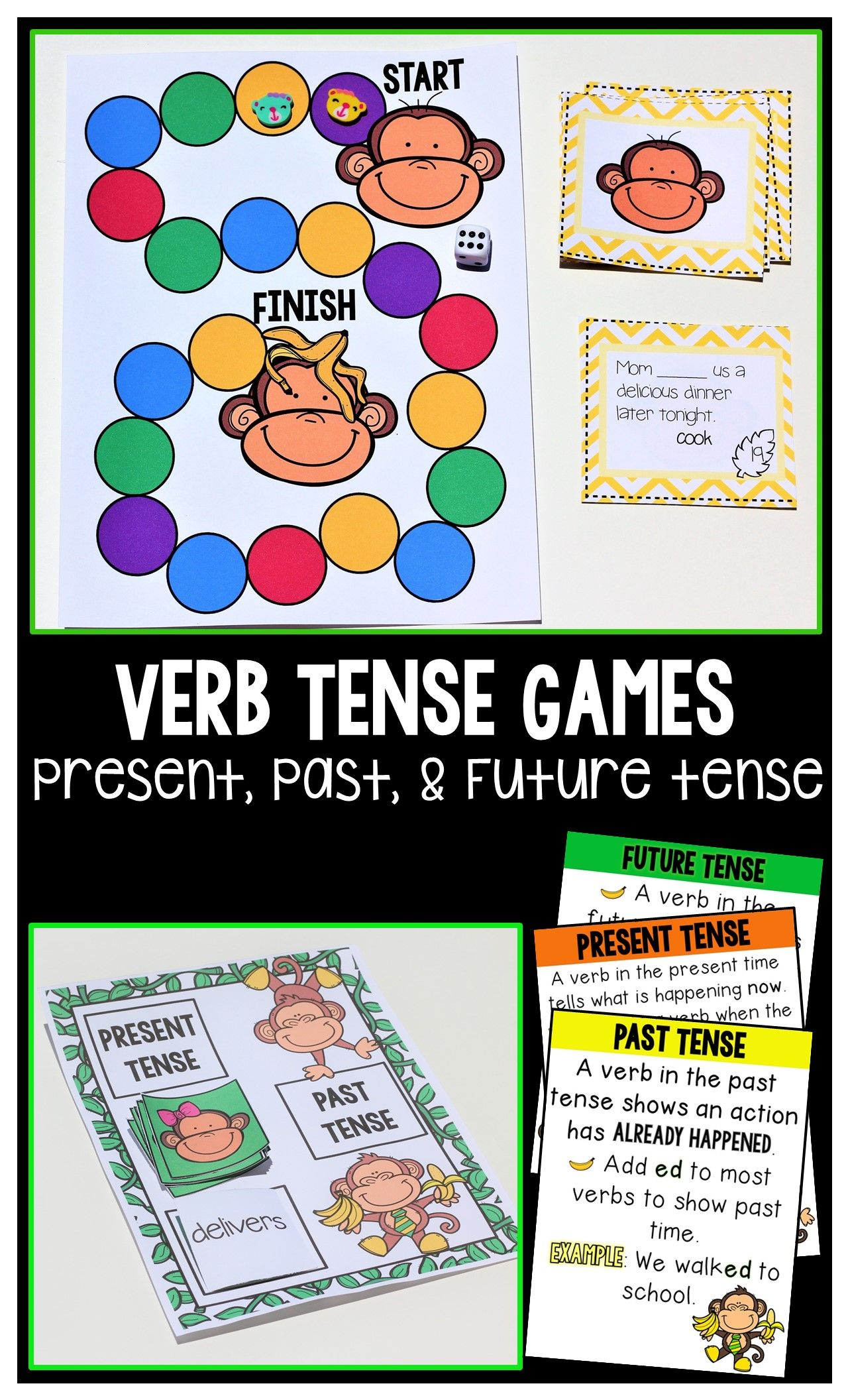 Past Present Amp Future Tense Verb Games Amp Anchor Charts