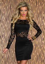 Sexy Lace Women's longsleeve Clubwear Cocktail Party Club Dress Bodycon Clothing