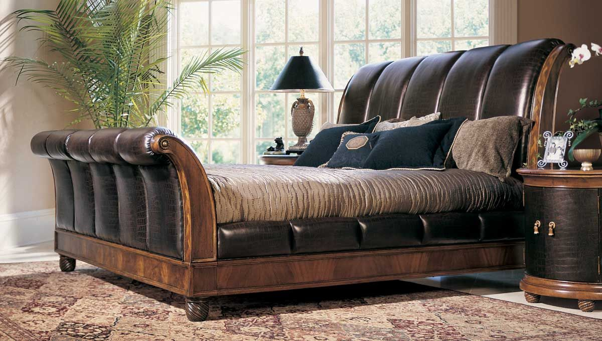 Best American Drew Bob Mackie Home Classics Sleigh Bed With 400 x 300