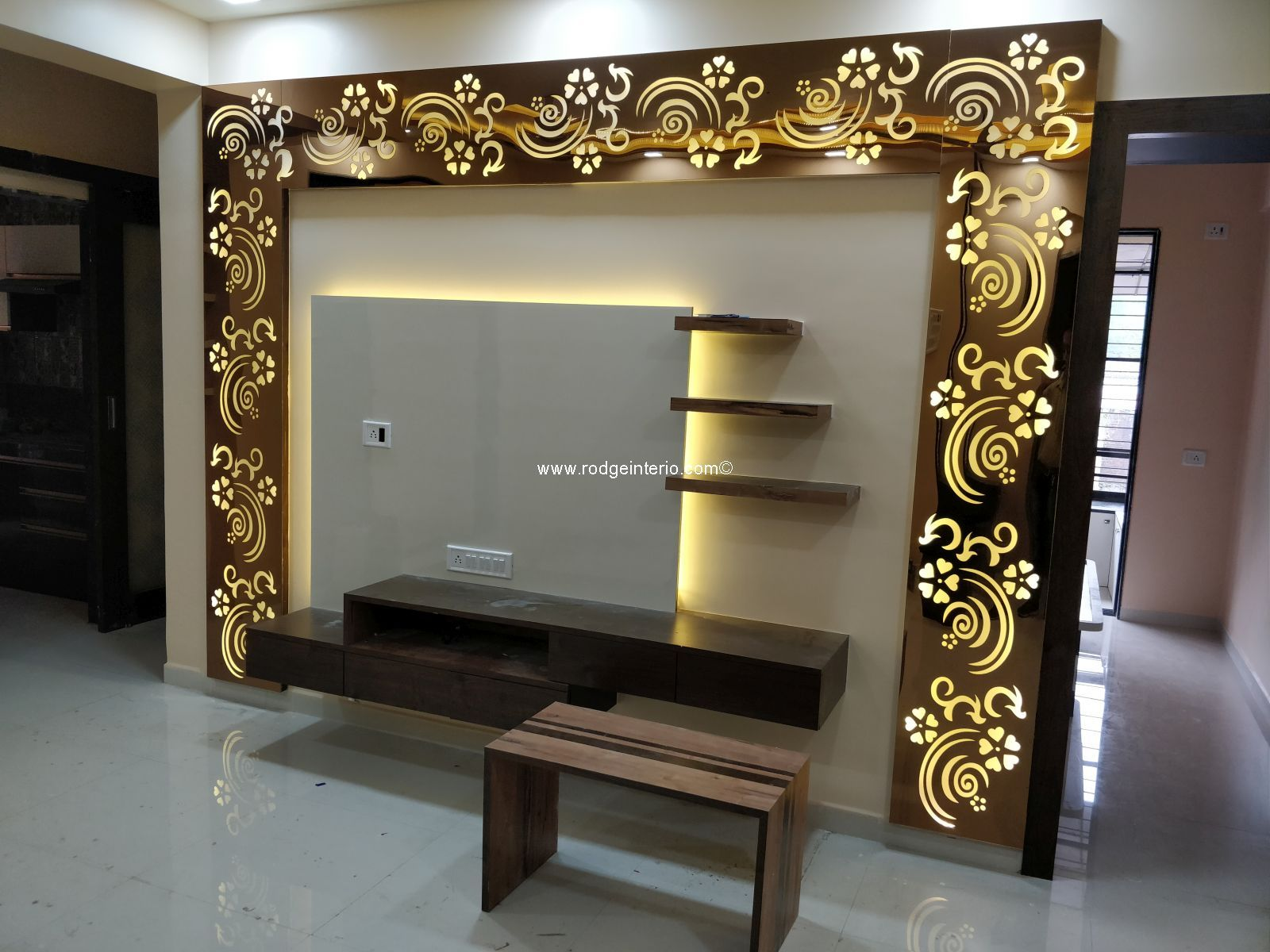 Rodge Interio Residential And Commercial Interior Designer In 2020 Lcd Wall Design Modern Tv Wall Units Wall Tv Unit Design
