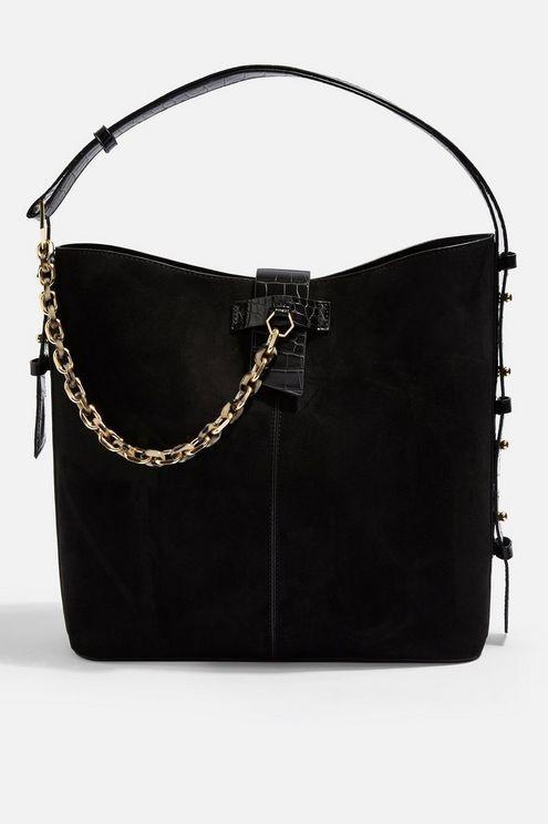 c54cbf8c63a3 Womens Heidi Black Hobo Bag With Chain - Black in 2019   Products ...