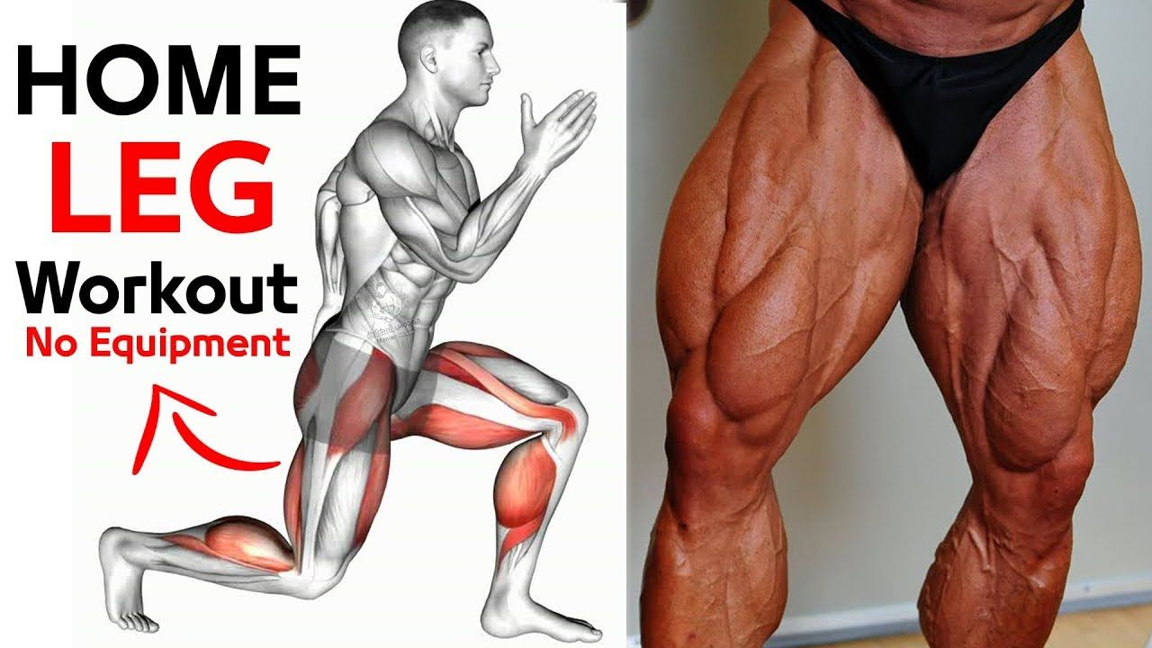 Bodyweight Leg workout at Home - No Equipment Exercises in ...