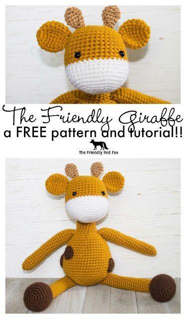 Free Crochet Pattern- The Friendly Giraffe Toy | Crochet Patterns ...