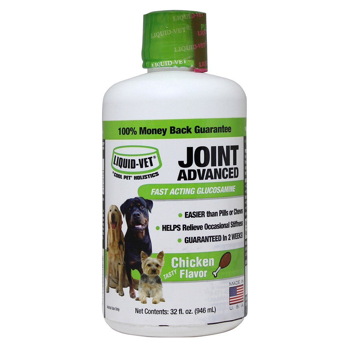 Liquid Vet Joint Advanced Dog, Chicken, 32 oz Find out