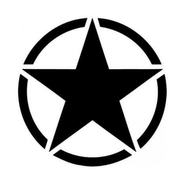 Us Army Star Vinyl Decal 178 Star Decals Vinyl Decals Star Vinyl
