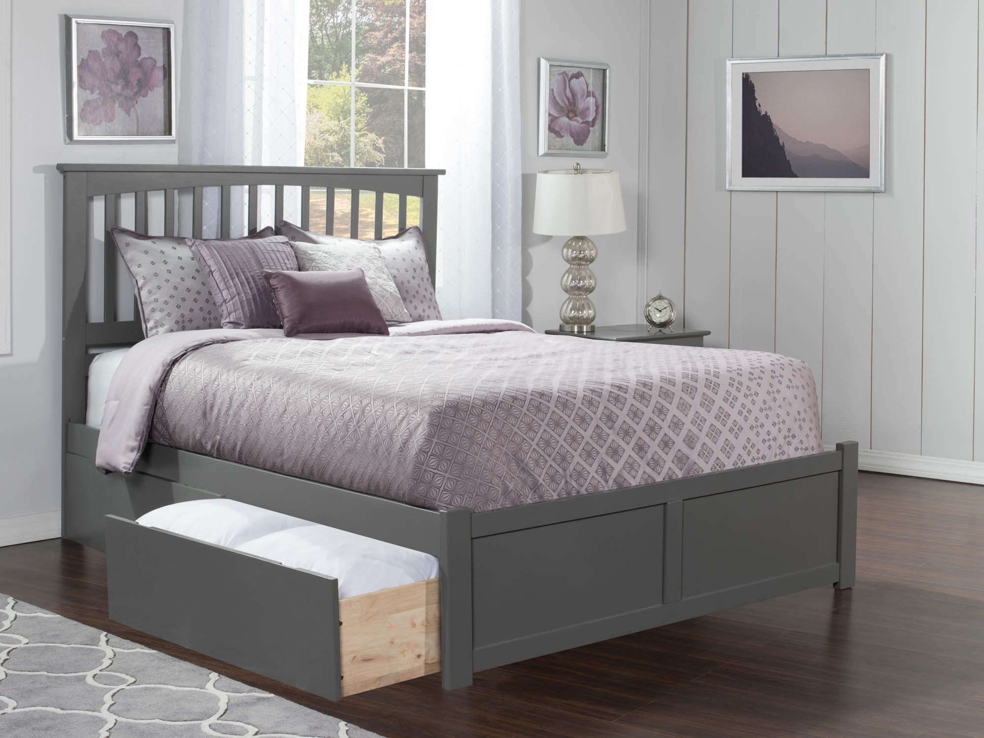 Mission Storage Bed Traditional Bed Atlantic Furniture Furniture