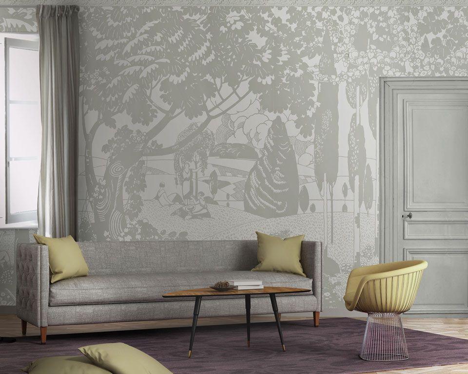 panoramique art d co papier peint papiers de paris masterpieces pinterest art d co. Black Bedroom Furniture Sets. Home Design Ideas