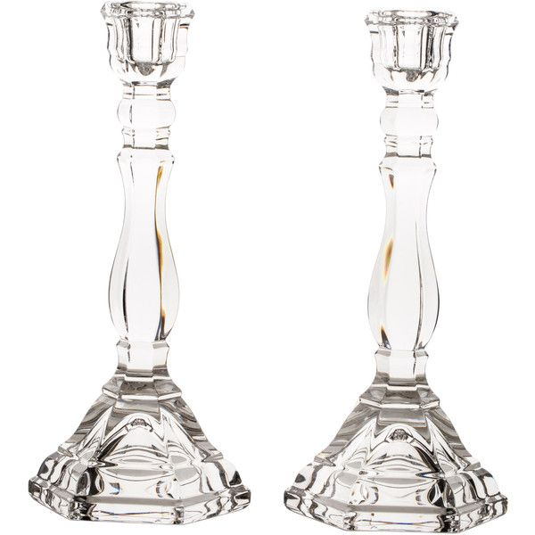 Pre-owned Tiffany & Co. Candlesticks ($75) ❤ liked on Polyvore featuring home, home decor, candles & candleholders, neutrals, tiffany & co., crystal candlesticks, crystal home decor y crystal candle sticks