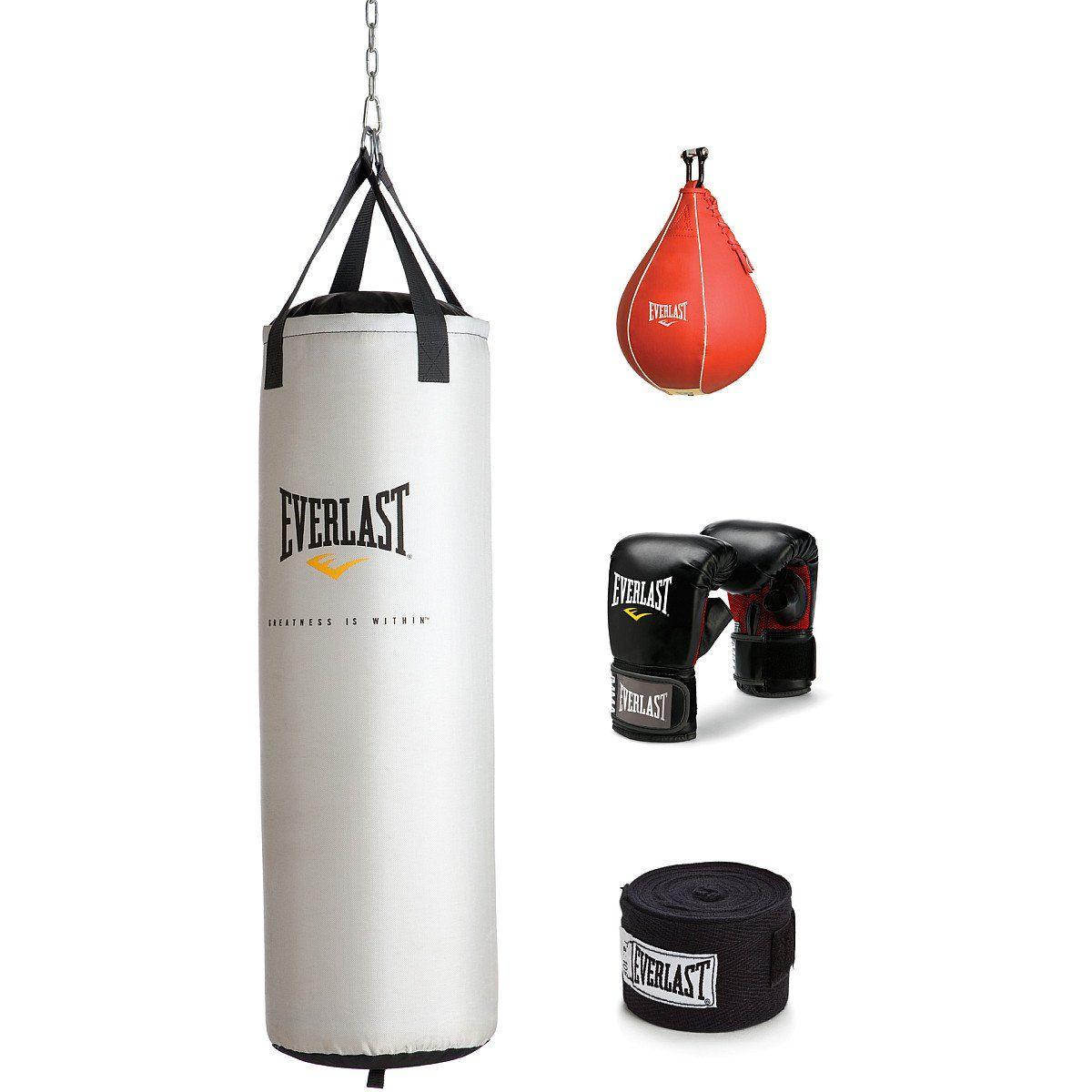 Everlast 70 lb Platinum Heavy Bag Kit | Heavy bag gloves