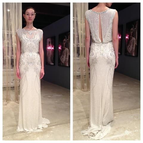 Jenny Packham Esme. The back of this dress is so beautiful. I know I've pinned it before
