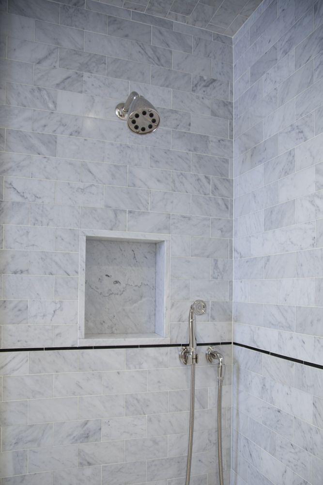 Master Bath Shower Niche Pre War Nyc Residence Shower Niche Master Bath Shower Marble Bathroom