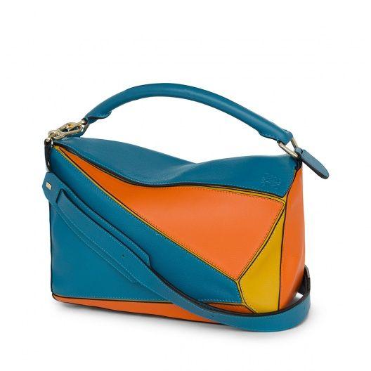 Loewe Bolsos - BOLSO PUZZLE Azul Laguna/multicolor