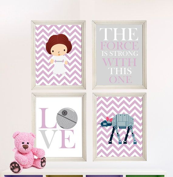 Baby Star Wars Nursery Art Room Decor 4 Print Set