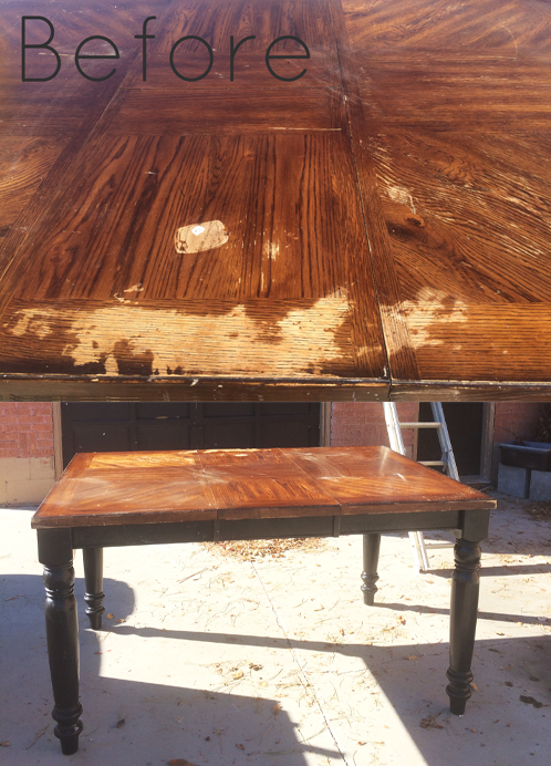 Dining Room Table Makeover Refinishing A Wood Veneer Table