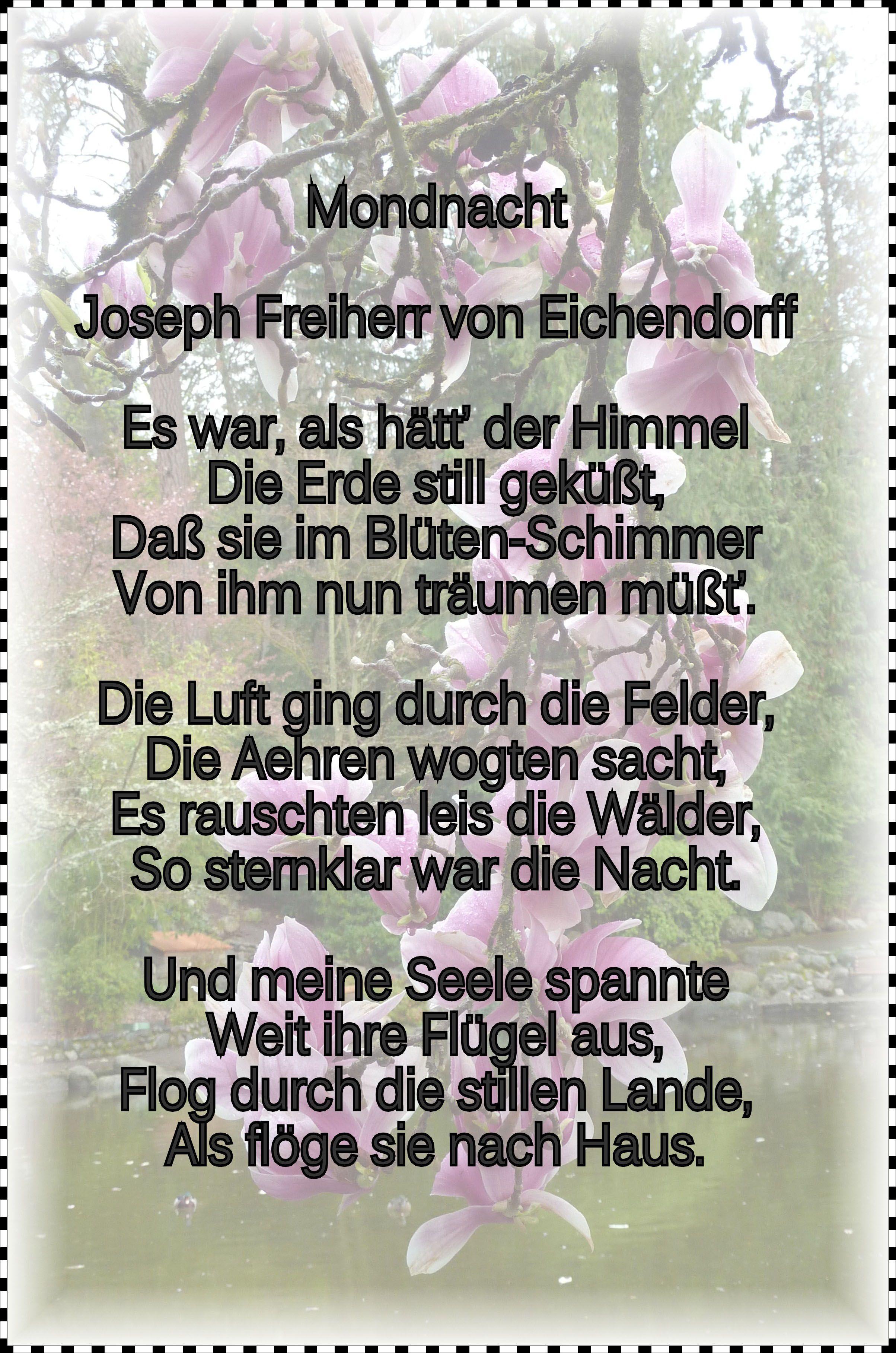 Von mondnacht eichendorff joseph gedicht Gedichtinterpretation joseph