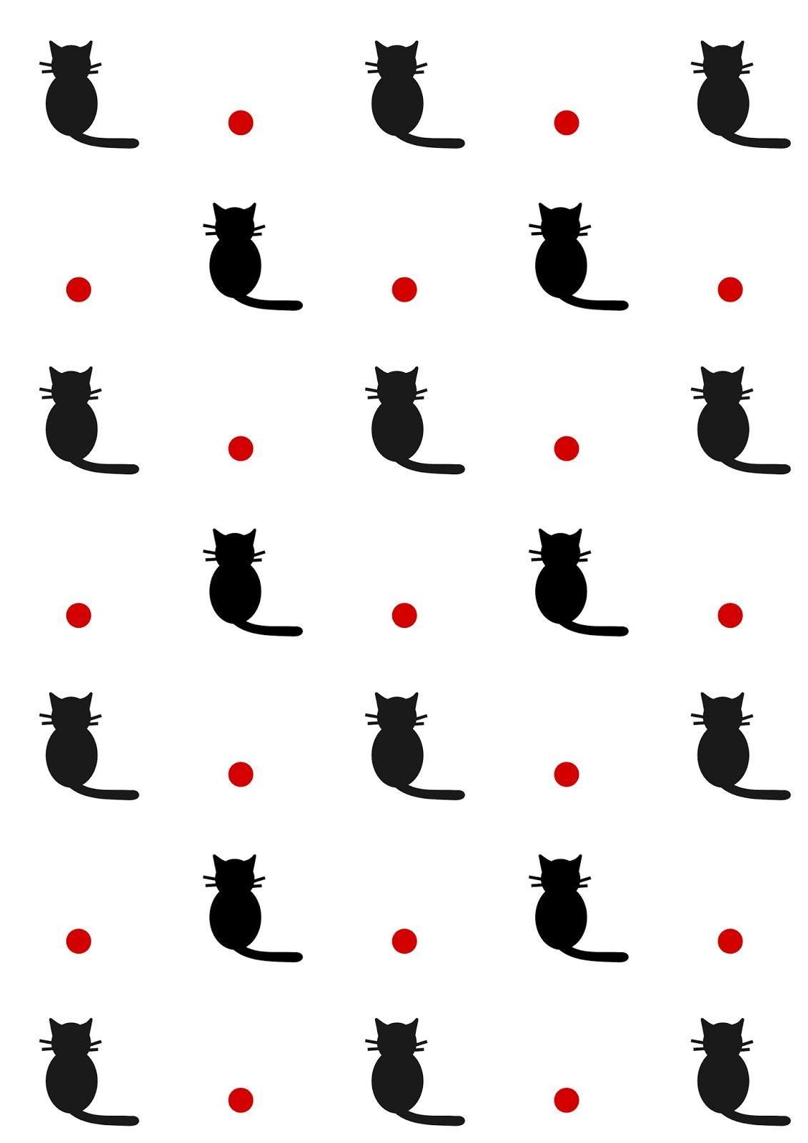 Free digital cat scrapbooking paper - ausdruckbares Geschenkpapier ...