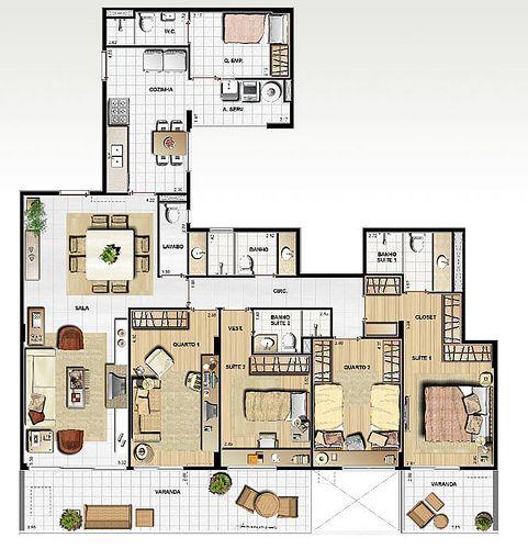 10 plantas para casas grandes plantas de casas projetos - Planos de casas grandes ...