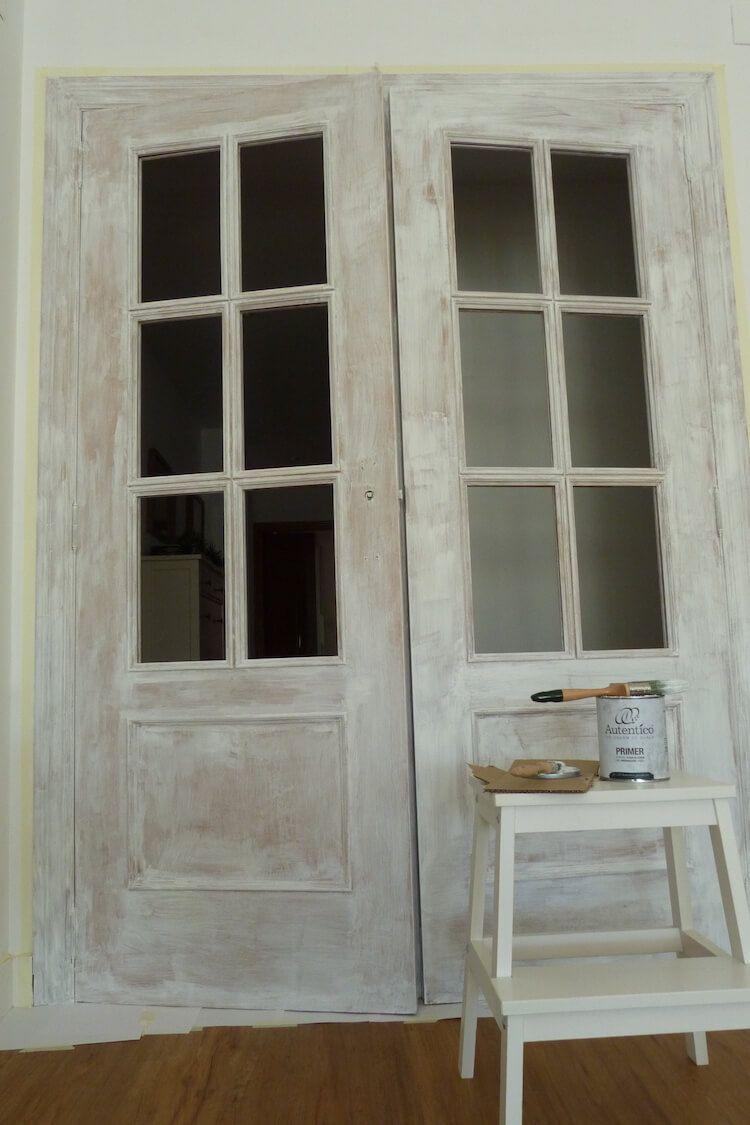 Pintar las puertas de tu hogar con chalk paint chalk - Pintar puerta galvanizada ...