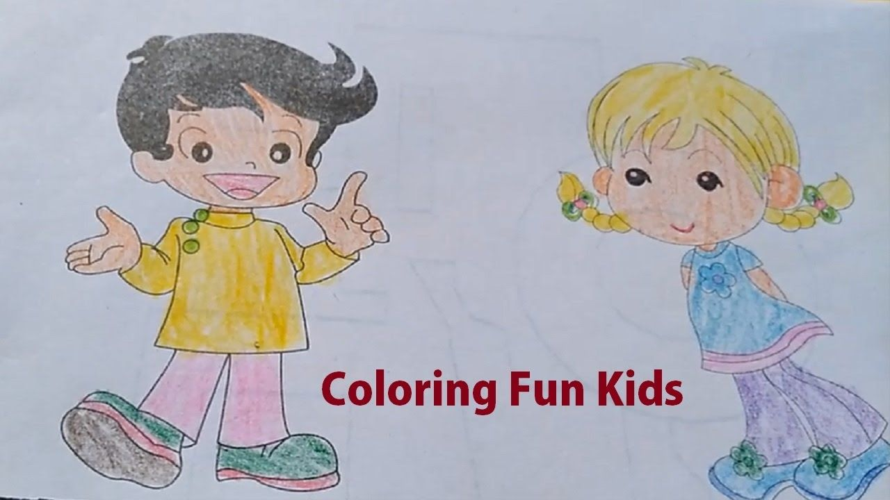 Learn to color happy kids coloring for children kids coloring
