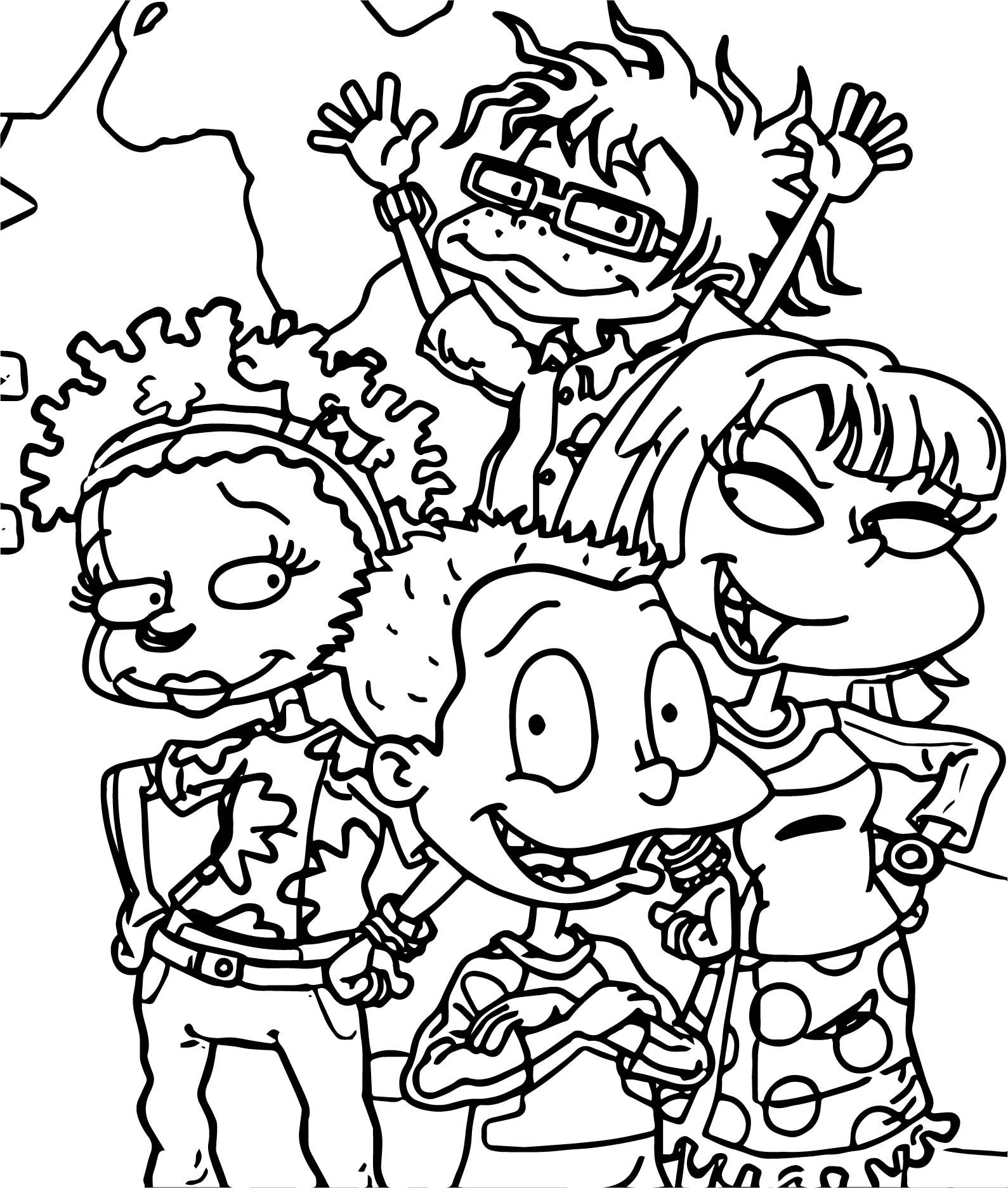 cool Rugrats All Grown Up All Grown Up Coloring Page  Cute