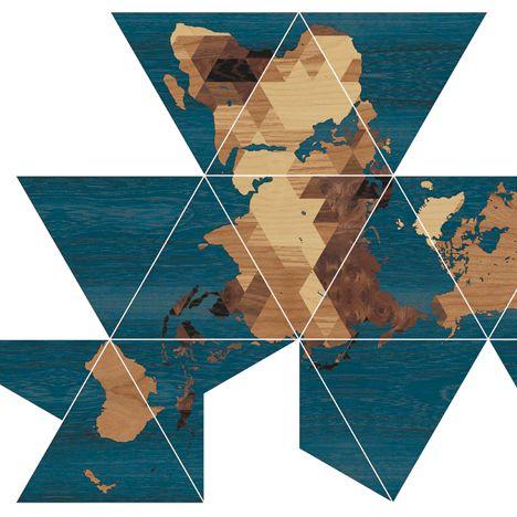 Buckminster Fulleru0027s Dymaxion Map CAD-BIM-GIS Cartography - new world map cad free