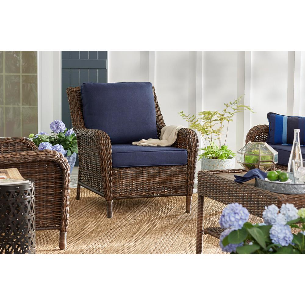 Hampton Bay Cambridge Brown Wicker Outdoor Patio Lounge