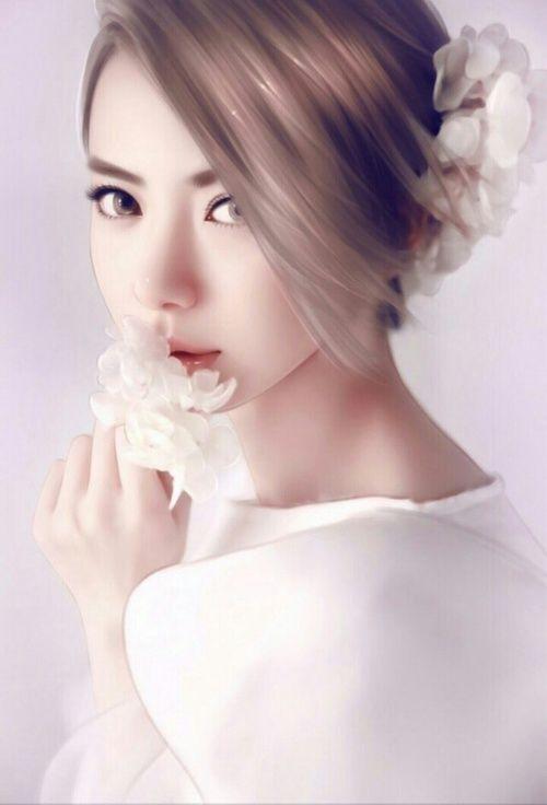 صور انمي بنات كوريا Cartoon Girls Korean Photo 1 Wanita Cantik Kecantikan Wanita
