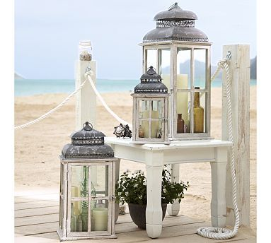 Park Hill Windowpane Lantern #potterybarn