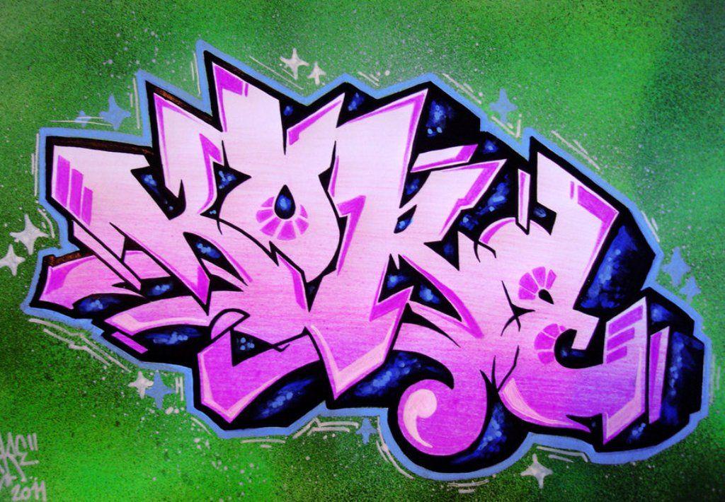 Kore Graffiti Letter Design By Koreee Graffiti wall art