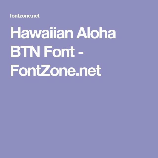 hawaiian aloha btn font