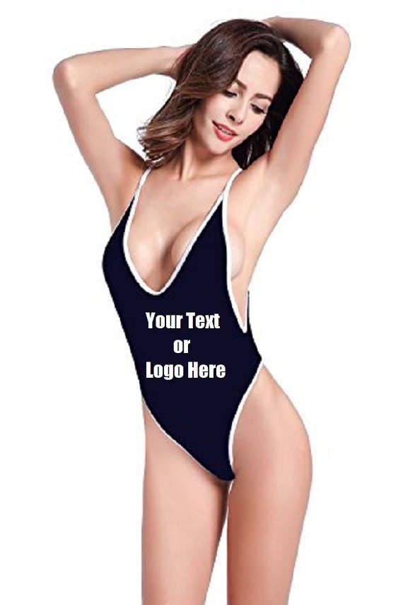 1fdf76e361c DG Custom Graphics is your premier site for custom designed apparel. We can  design your Women's High Cut One Piece Backless Thong Brazilian Bikini  Swimsuit ...