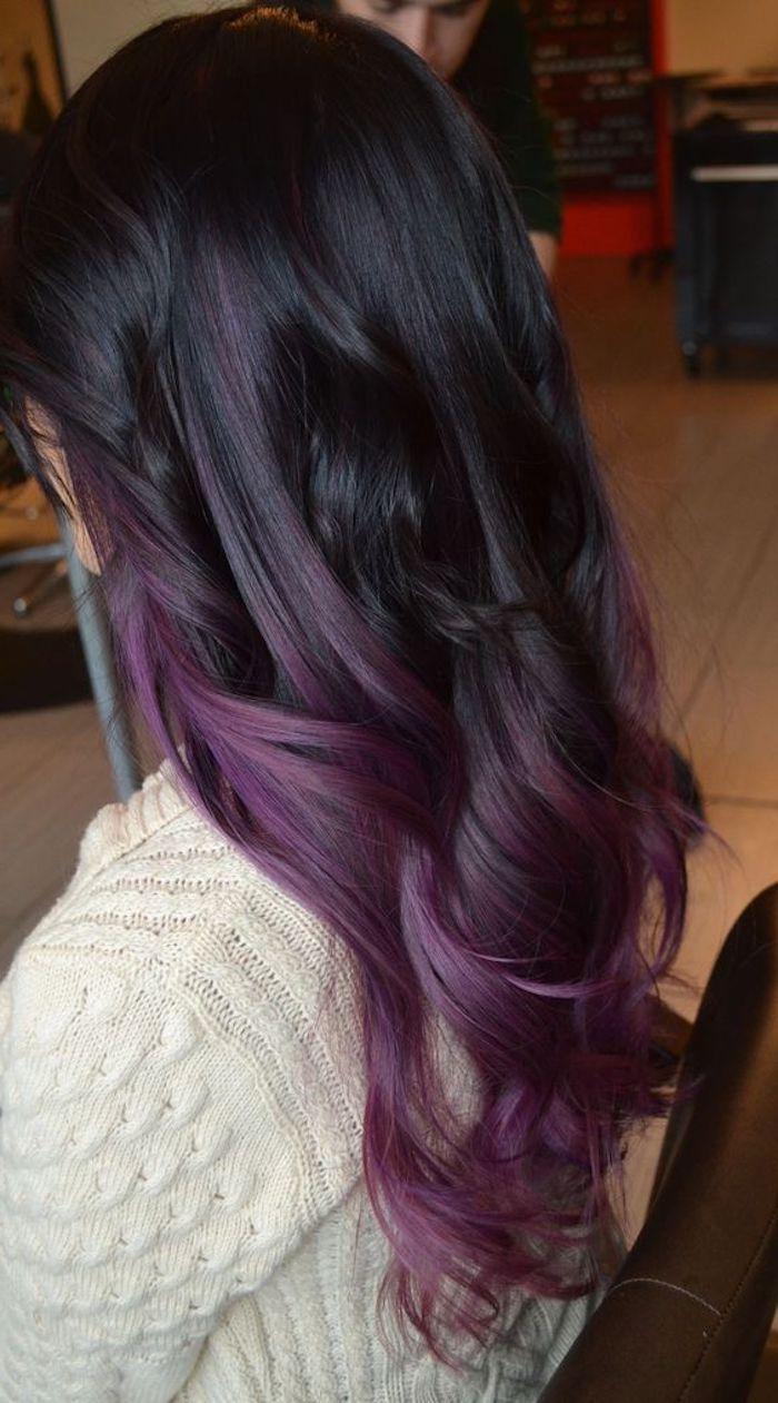 Frisuren lila haare