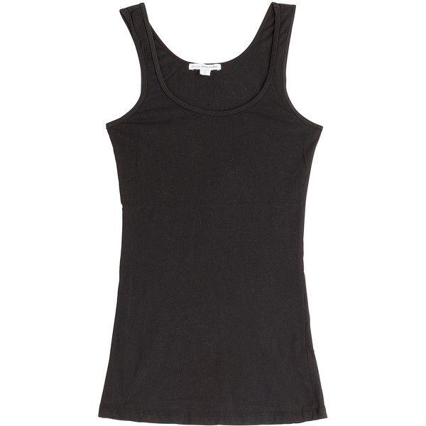 Black cotton tank top James Perse Deals Cheap Online Cheap The Cheapest RCWfC1