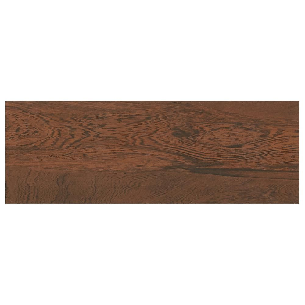 Null Glenwood Cherry 7 In X 20 In Ceramic Floor And Wall Tile
